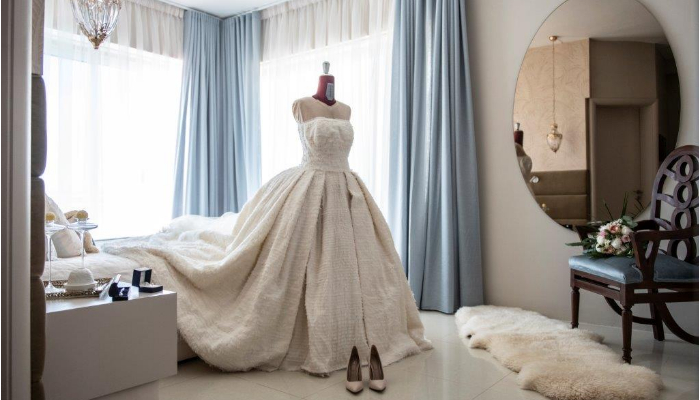 This Maltese bride's wedding dress was a couture creation made with love