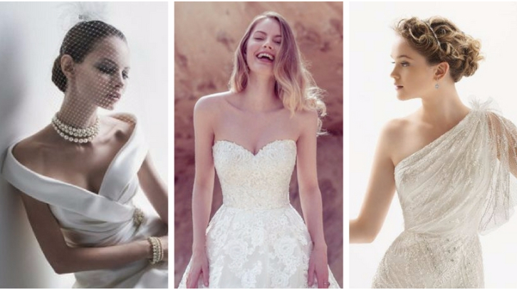 Hairstyles to match your gown's neckline