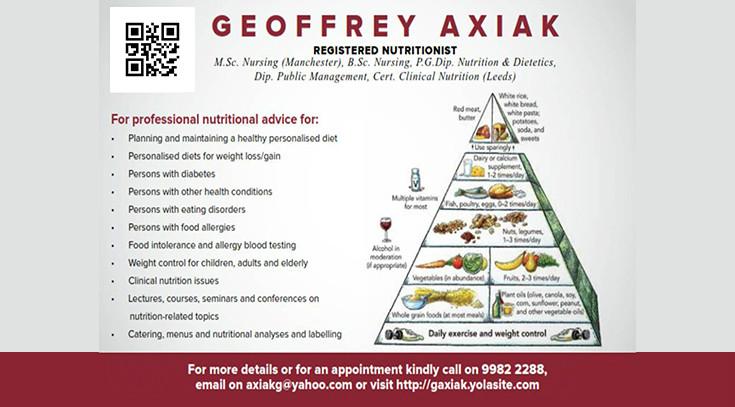Geoffrey Axiak Nutrition