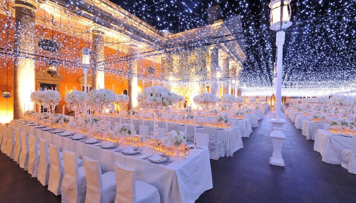 Working With Fairy Lights At Your Wedding Venue