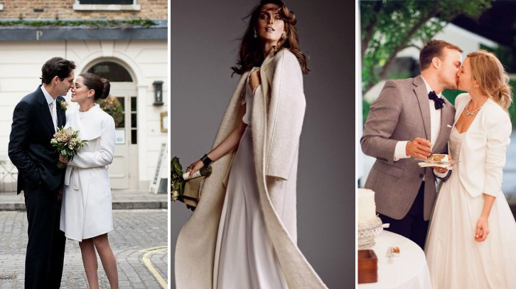 7 Beautiful Bridal Coats and Jackets for a Winter Wedding