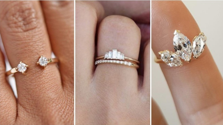 7ec7aa1a8 11 unusual engagement ring shapes for the alternative bride
