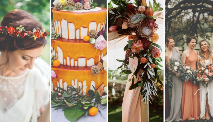The 4 most popular seasonal wedding colour palettes for 2019