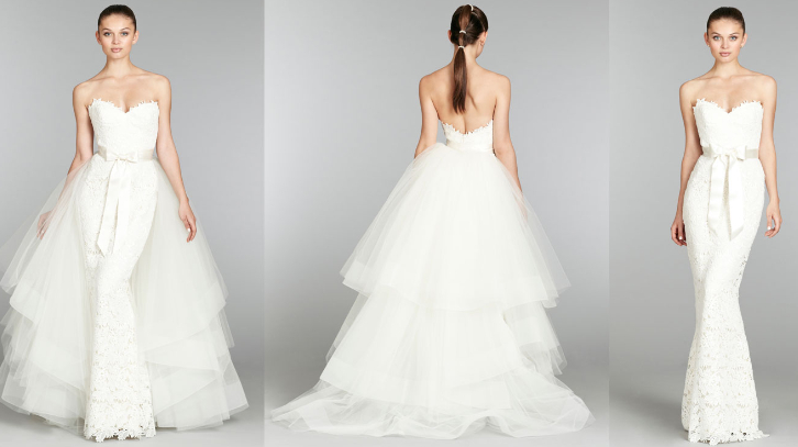 The Best Of Both Worlds Wedding Dresses With Detachable Skirts
