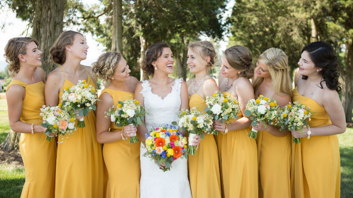 32264049dfd 7 bridal party dress colours that channel real summer vibes